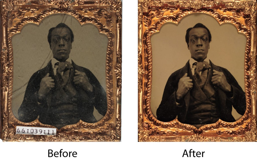 Cleaning and cover glass replacement of vintage ambrotype