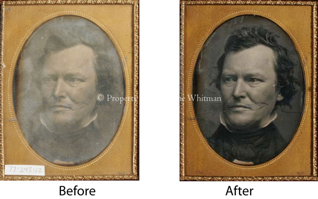 Surface and cover glass cleaning of vintage Daguerreotype